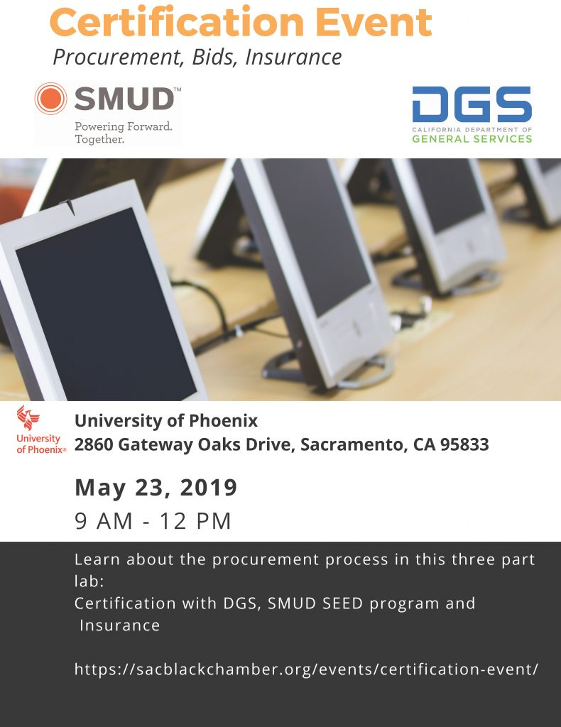 Certification Event – This event has been cancelled  – Sacramento